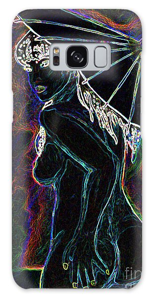 Neon Moon Galaxy Case by Tbone Oliver