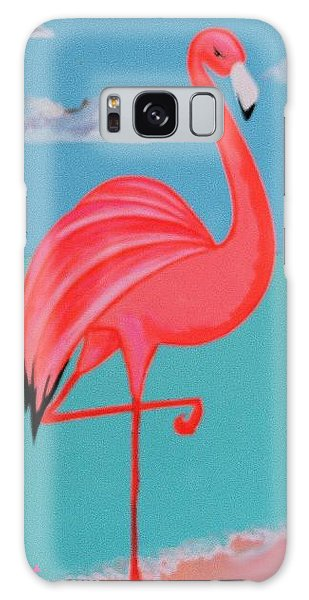 Neon Island Flamingo Galaxy Case