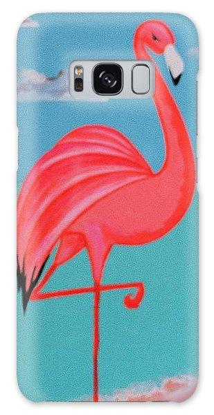 Neon Island Flamingo Galaxy Case