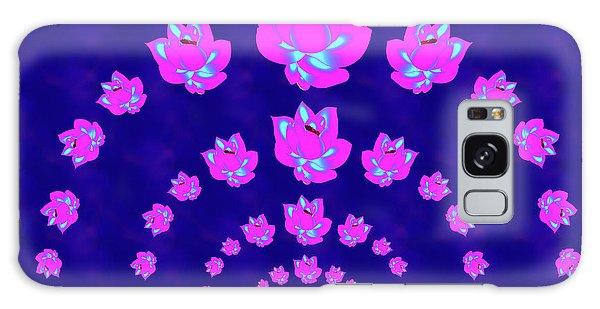 Neon Pink Lotus Arch Galaxy Case