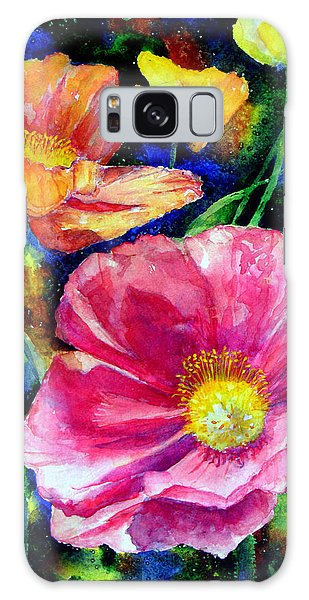 Neon Poppies Galaxy Case