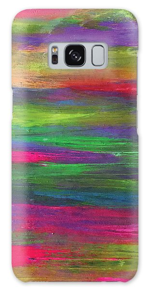 Neon Rainbow Galaxy Case