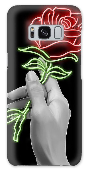 Beautiful Galaxy Case - Neon Rose by Canvas Cultures