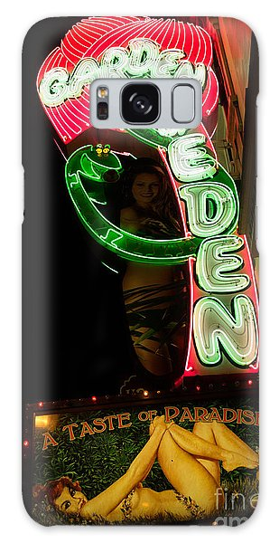 Neon Sign At Night In North Beach San Francisco 1 Galaxy Case by Jason Rosette