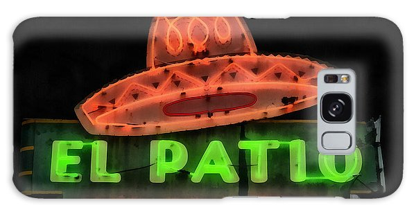 Galaxy Case featuring the painting Neon Sign Series Mexican Food Austin Texas by Edward Fielding
