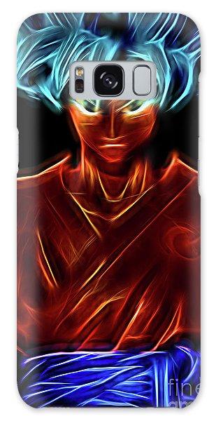 Galaxy Case featuring the digital art Neon Ss God Goku by Ray Shiu