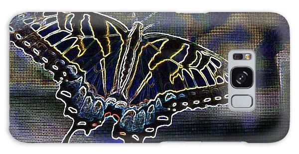 Neon Swallowtail Butterfly Galaxy Case