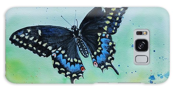Neon Swallowtail Galaxy Case