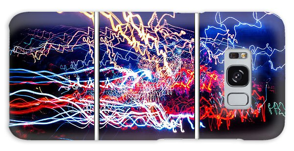 Neon Ufa Triptych Number 1 Galaxy Case