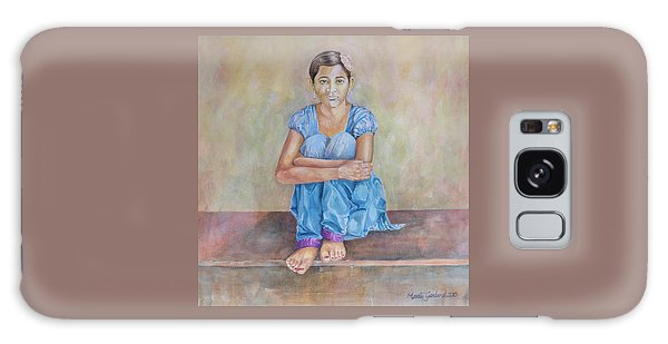 Nepal Girl 4 Galaxy Case by Marty Garland