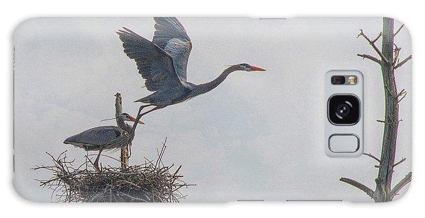 Nesting Great Blue Heron Galaxy Case