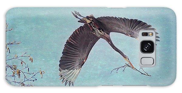 Nesting Heron In Flight Galaxy Case
