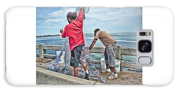 Net Fishing On Cortez Bridge  Galaxy Case