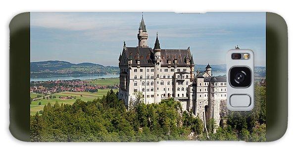 Neuschwanstein Castle With Village Galaxy Case
