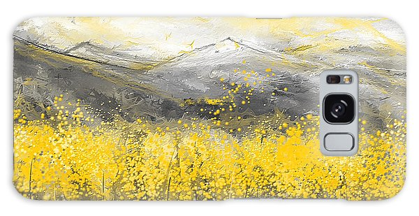 Neutral Sun - Yellow And Gray Art Galaxy Case