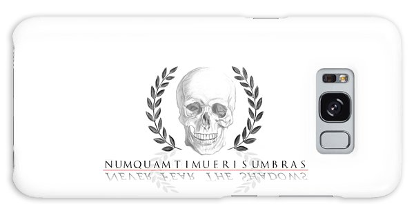 Never Fear The Shadows Stoic Skull With Laurels Galaxy Case