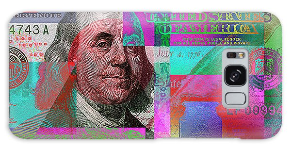 New 2009 Series Pop Art Colorized Us One Hundred Dollar Bill  No. 3 Galaxy Case