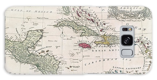 Mexican Galaxy Case - New And Accurate Map Of The West Indies by American School