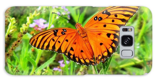 Windows From Heaven Orange Butterfly Galaxy Case