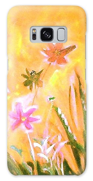 Galaxy Case featuring the painting New Daisies by Winsome Gunning