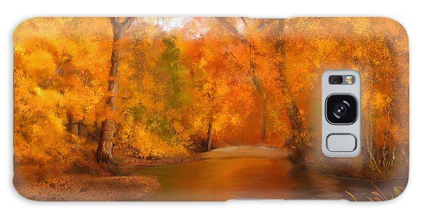 New England Autumn In The Woods Galaxy Case
