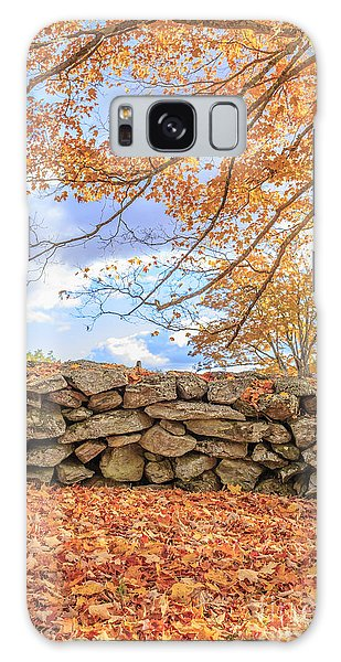 New Leaf Galaxy Case - New England Stone Wall With Fall Foliage by Edward Fielding
