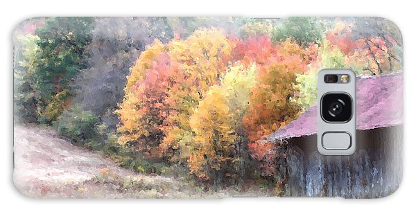New England Tobacco Barn In Watercolor Galaxy Case