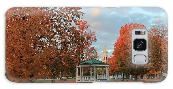 New England Town Common Autumn Morning Galaxy Case by John Burk