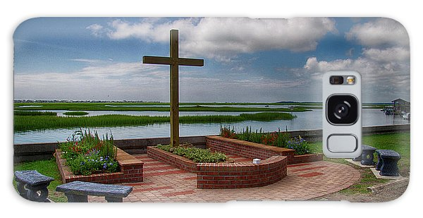 Galaxy Case featuring the photograph New Garden Cross At Belin Umc by Bill Barber