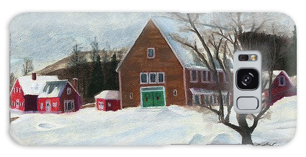New Hampshire Farm In Winter Galaxy Case