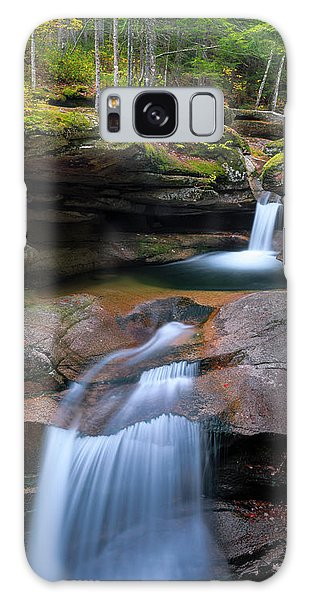 New Hampshire Sabbaday Falls Panorama Galaxy Case