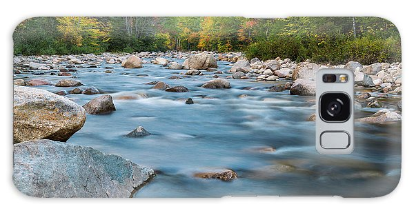 New Hampshire Swift River And Fall Foliage In Autumn Galaxy Case by Ranjay Mitra