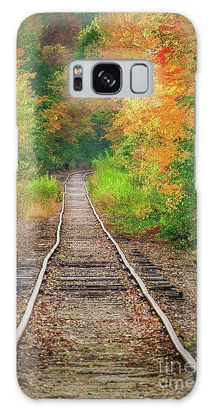 New Hampshire Train Tracks To Foliage Galaxy Case