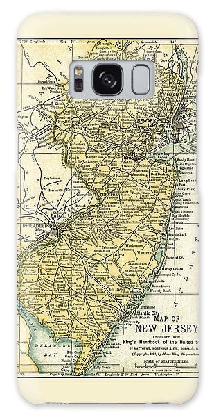 New Jersey Antique Map 1891 Galaxy Case