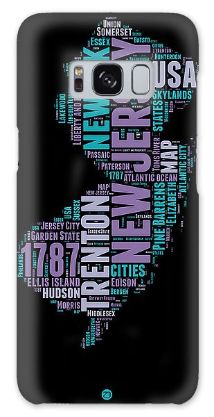America Map Galaxy Case - New Jersey Word Cloud 1 by Naxart Studio
