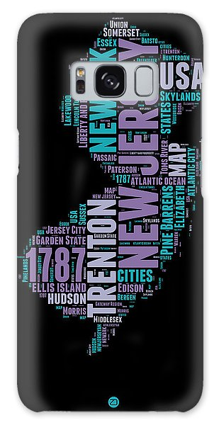Usa Galaxy Case - New Jersey Word Cloud 1 by Naxart Studio
