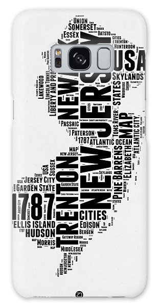 America Map Galaxy Case - New Jersey Word Cloud 2 by Naxart Studio