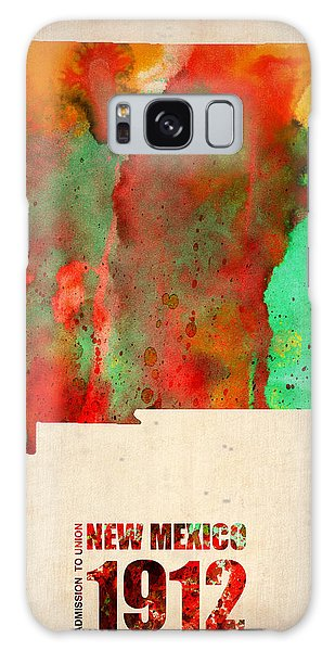 Mexican Galaxy S8 Case - New Mexico Watercolor Map by Naxart Studio