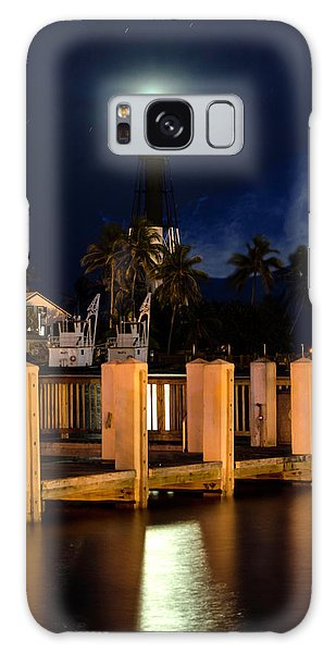 New Moon At Hillsboro Inlet Lighthouse Galaxy Case