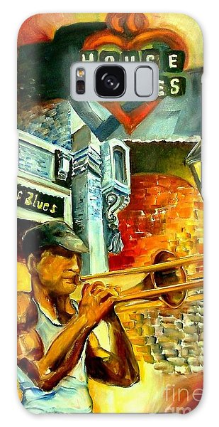 Trombone Galaxy S8 Case - New Orleans' House Of Blues by Diane Millsap