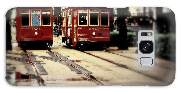 New Orleans Red Streetcars Galaxy Case