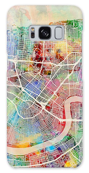 City Map Galaxy Case - New Orleans Street Map by Michael Tompsett