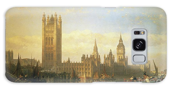 Cityscape Galaxy Case - New Palace Of Westminster From The River Thames by David Roberts