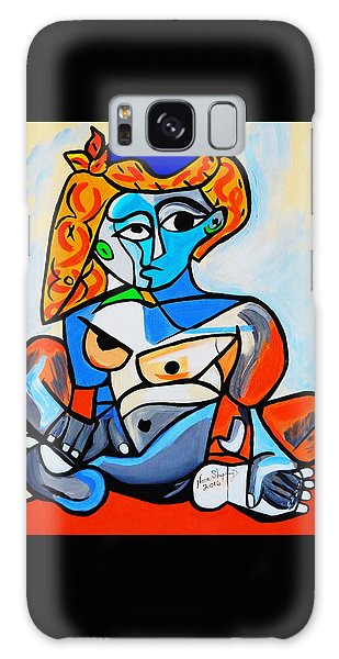 New  Picasso By Nora  Nude Woman With Turkish Bonnet Galaxy Case
