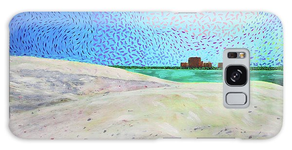 Galaxy Case featuring the painting New Smyrna Beach As Seen From A Dune On Ponce Inlet by Deborah Boyd