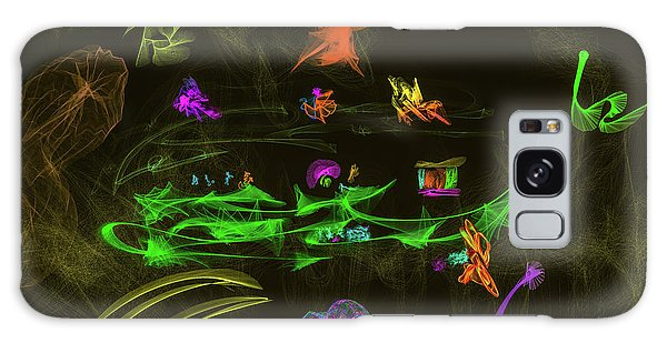 Galaxy Case featuring the digital art New Wold #g9 by Leif Sohlman