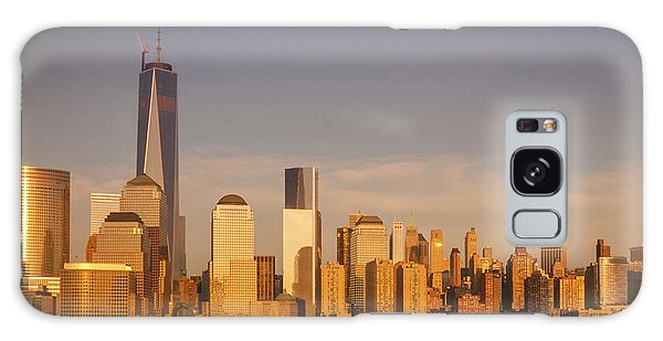 New World Trade Memorial Center And New York City Skyline Panorama Galaxy Case by Ranjay Mitra