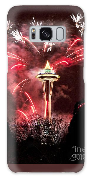 New Years At The Space Needle Galaxy Case