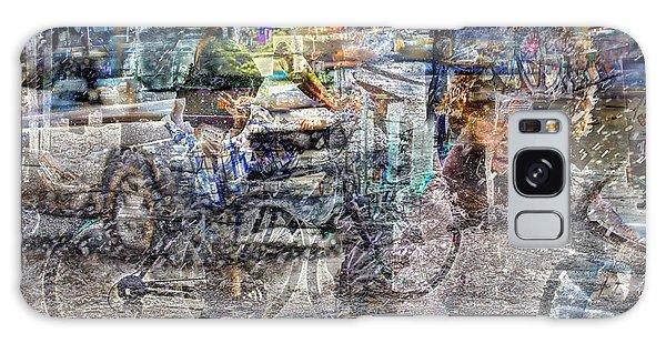 New York Bike Messengers Galaxy Case by Dave Beckerman