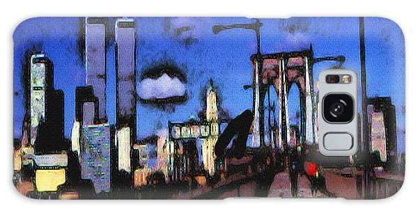 New York Blue - Modern Art Painting Galaxy Case
